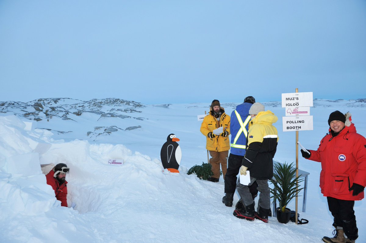 An igloo with a view: Australians go to the polls in Antarctica