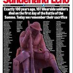 Todays front page. Never forget them. #Somme100 https://t.co/OLZKFPI1QY
