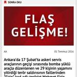 Ankarada 17 Şubatta askeri araçlara yönelik bombalı araçlı saldırının planlayıcısı olan terörist Licede öldürüldü. https://t.co/xMqYrKPFno
