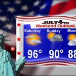 Best chance of rain for the holiday weekend is on Sunday. Should be dry for fireworks on the 4th! #okwx https://t.co/W8ZEYjbej7