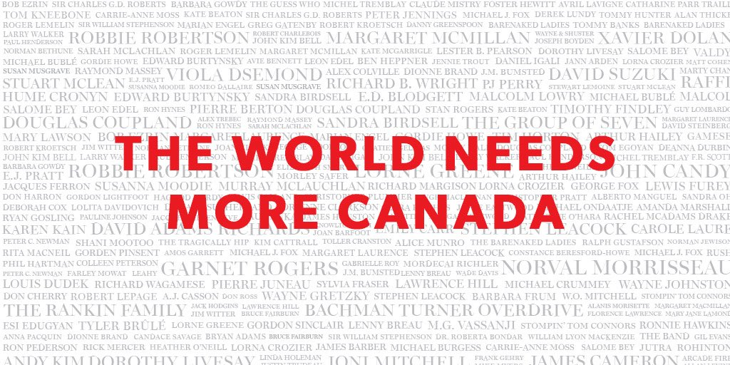 Love. This. Country. Happy Canada Day! RT and let's trend worldwide because #TheWorldNeedsMoreCanada https://t.co/4ausK5R3R8