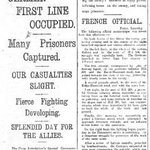 From our newspaper archive: first reports on Battle of the Somme in @brightonargus, 1 July 1916 #Somme100 #WW1 https://t.co/Eq2nUwivwp