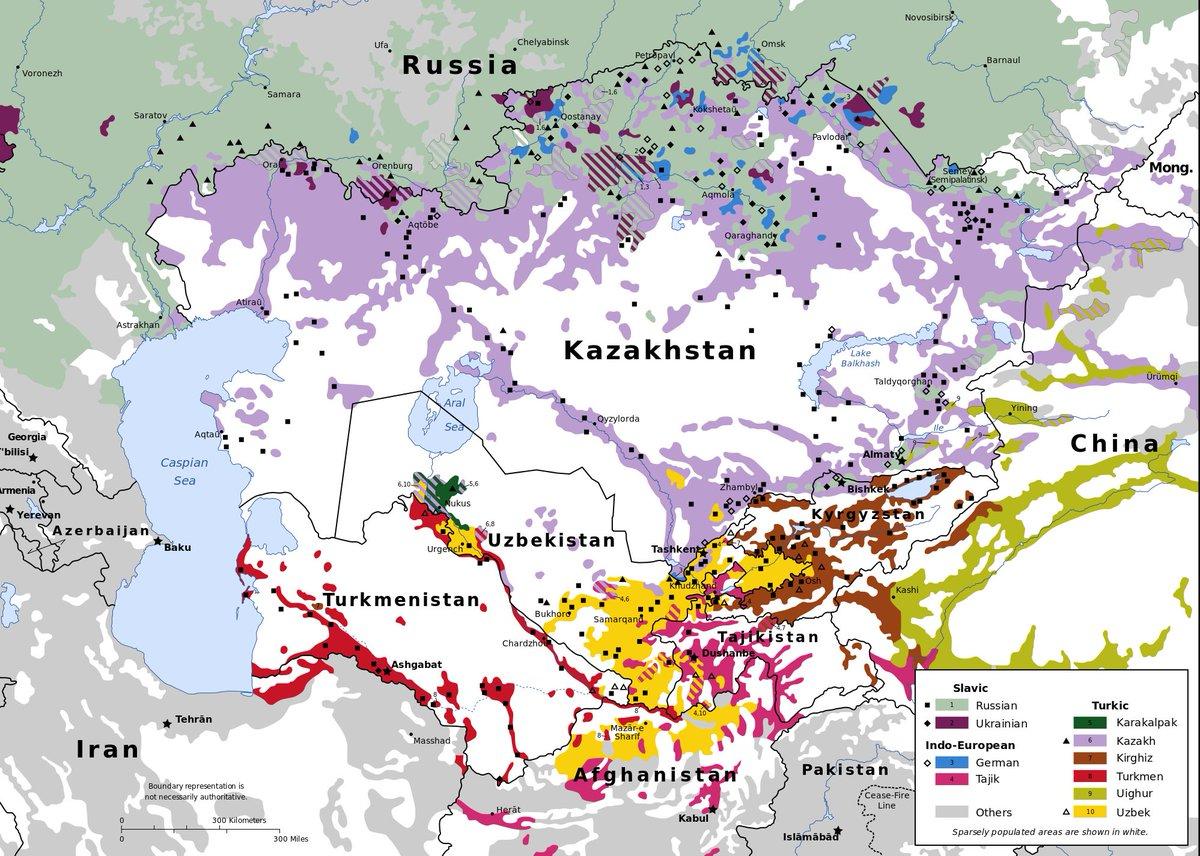 Impresionante mapa con las etnias de asiacentral  scoopnestcom
