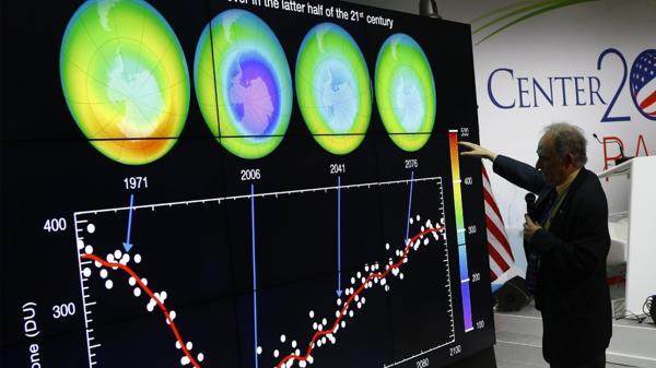 El agujero de la capa de ozono de la Antártida es cada vez más chico