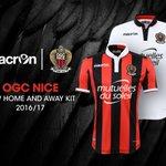 OFFICIEL ! Macron dévoile les deux nouveaux maillots de lOGC Nice, saison 2016/17. https://t.co/xiwWJDsoW5