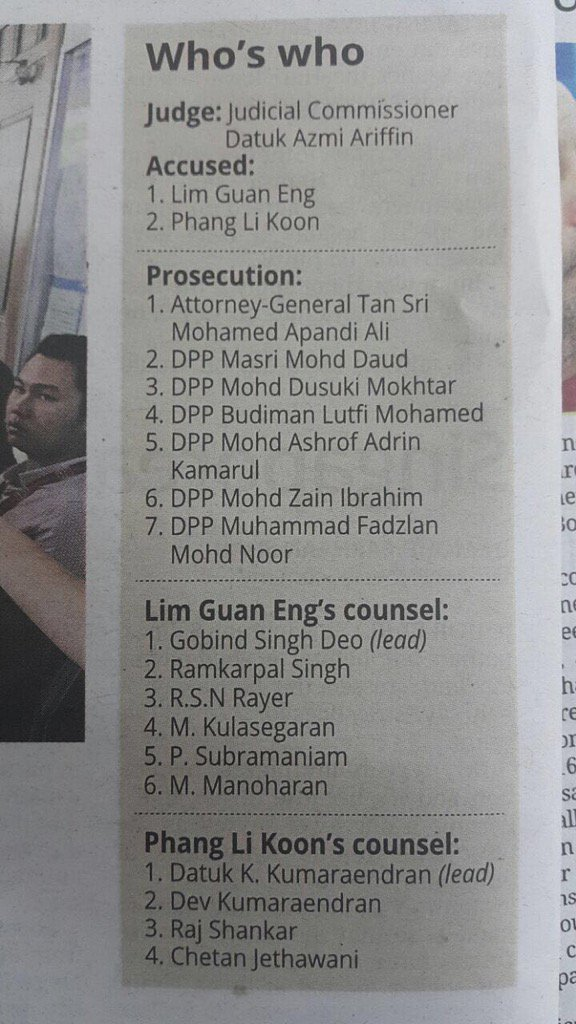 Really 1Msia as accused both Chinese,prosecutors all Malays and defence all Indians ! https://t.co/wSQiou12d3