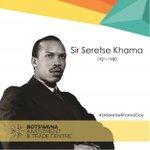 Today we remember our inspiring leader, Sir Seretse Khama (July 1, 1921 - July 13, 1980). Happy #SirSeretseKhamaDay https://t.co/GJFi7ncpCq