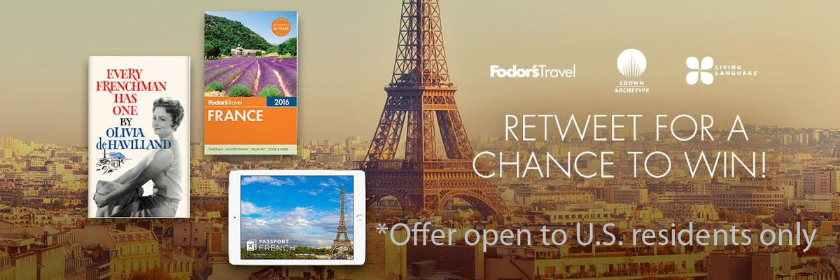 Retweet for chance to win Every Frenchman Has One, Fodor's France Guide & 3-mo. sub to Passport France! #OdeH100 https://t.co/j0tt6uizvD