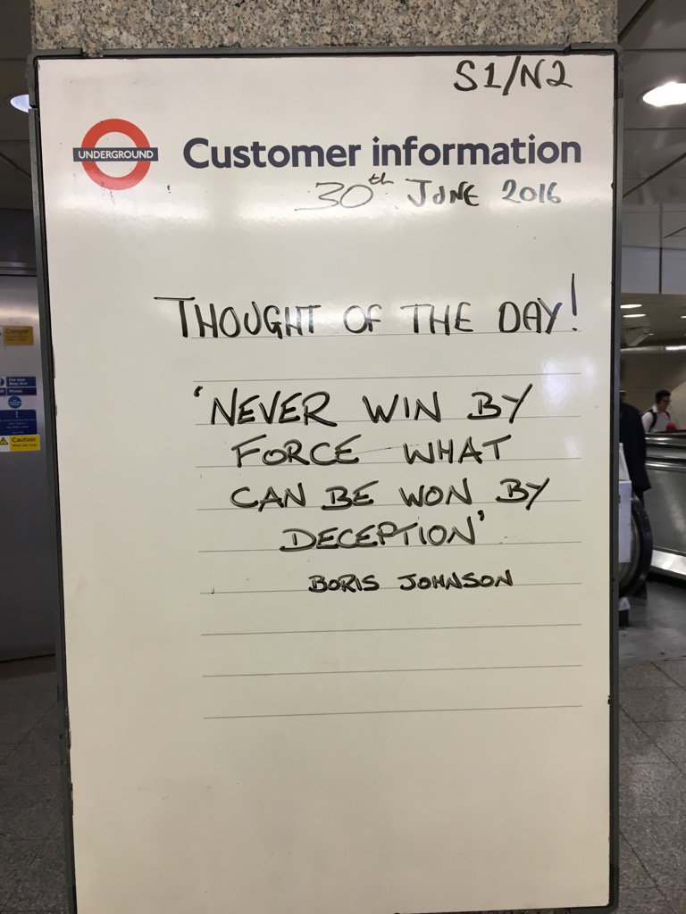 Thought of the day at Angel yesterday...funny given that Boris lives right there... #tfl https://t.co/Pe218wk5yV