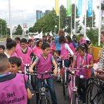 fietste samen met kinderen basisschool Schateiland tijdritparcours Grand Depart #TdF2015 sinds vandaag gemarkeerd! https://t.co/aIsHinDoos