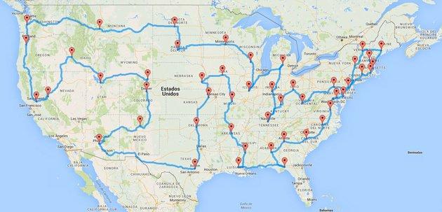 Un matemático ha diseñado un road trip para visitar todo #EstadosUnidos en solo 8 días y medio (22.000 km) #viajes https://t.co/KniVoFtaRq