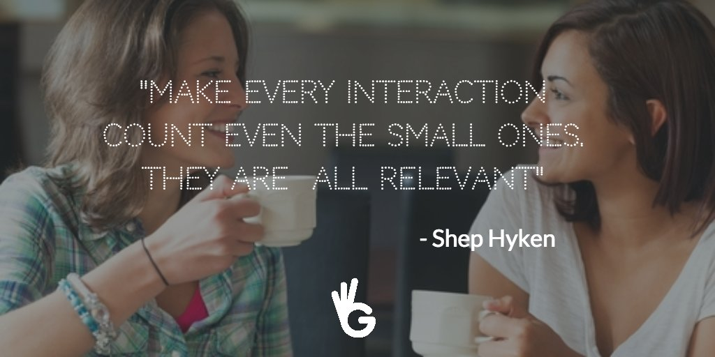 """Make every interaction count even the small ones. they are  all relevant"" @Hyken https://t.co/kwxYaVx1Qb via @Guudjob  #cx"
