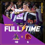 FULL TIME: A Friday night Storm special! Thats 7 straight wins @suncorpstadium #purplepride https://t.co/APCSvCuAlM