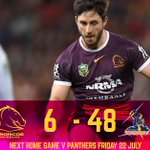 Full Time - Broncos were out played at home to lose 6-48 #NRLBroncosStorm https://t.co/eU3wwVEYVx