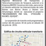 Recuerda considerar estos trabajos en tu ruta!! Que tengas un gran fin de semana #Iquique #Tarapacá https://t.co/dh1TP0cCRe