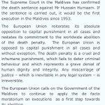 Statement by the Spokesperson on a #death sentence in the #Maldives https://t.co/u1zaL3VcxE via @eu_eeas https://t.co/00La3zxq7K