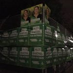 Passed 3 booths covered in Greens plastic Too much money? Self importance? Lack of respect for others? #ausvotes https://t.co/cXmoYe0u5B