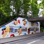 #CherbourgenCotentin aux couleurs du #TDF2016 pour larrivée de la 2e étape @letour @LeTour_LaManche #streetart https://t.co/eCC97DwnCp