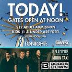 TODAY! Gates open at NOON! Later today, catch @3doorsdown @MoonTaxi & Kashmir! #napervilleribfest #itsaboutkids https://t.co/VXxpjrxJ58