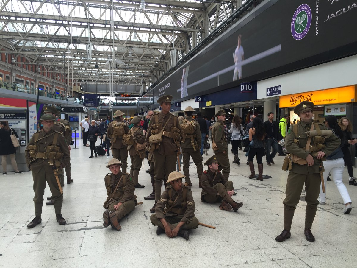 See photos of today's #WeAreHere #WW1 soldiers #Somme100 tribute compiled in this website: https://t.co/Z1ls4TWOKB https://t.co/qSoKu3gf1R