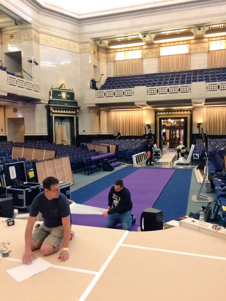 We're all set up and ready for Monday's Graduation