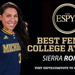 Sierra Romero is up for Best Female College Athlete at the 2016 #ESPYS! #VoteforRomo  » https://t.co/3IUwOc2b7V https://t.co/njEJar86LS