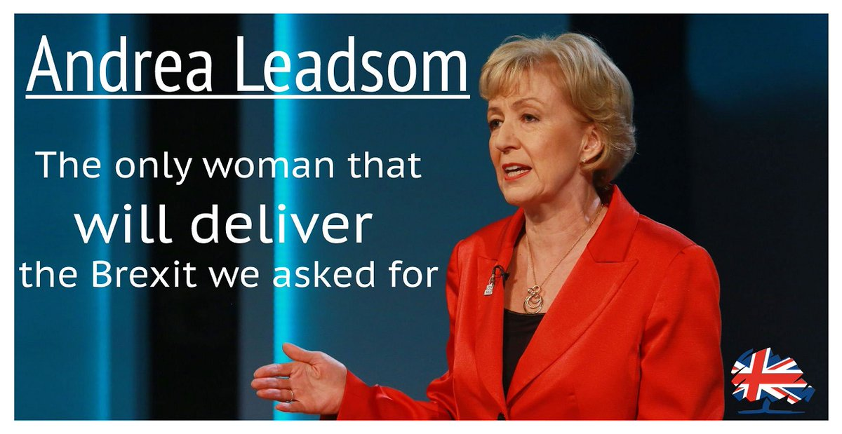 I'm backing @andrealeadsom for Tory leader and P.M. #Andrea4UK #AndreaLeadsom4Leader #Leadsom4Leader #TeamAndrea https://t.co/44plIq7bio