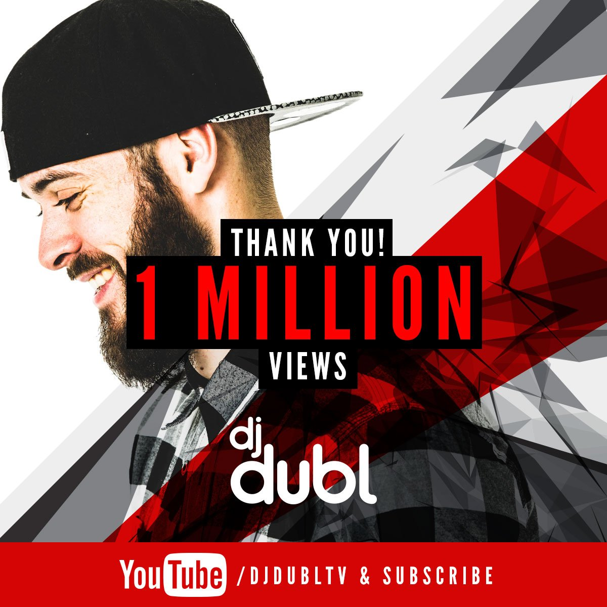 IT'S OFFICIAL!!!   #DJDUBLTV has now hit it's first 1,000,000 views! THANK YOU to everyone that's ever pressed play! https://t.co/ZpkAxoBMpl