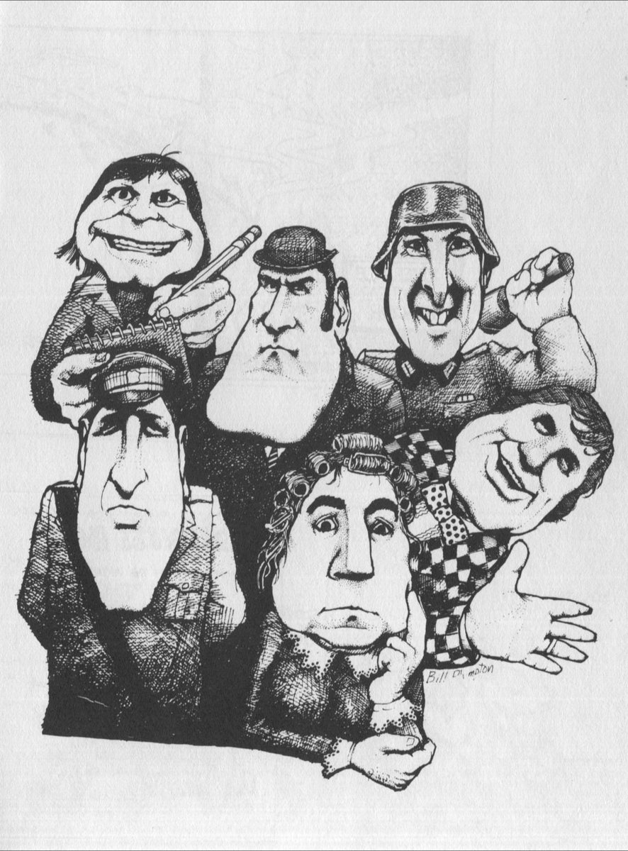 Another caricature I did during the 1970's - the whole #montypython gang, including my pal @TerryGilliam - Enjoy! https://t.co/7YjsOKs8yU