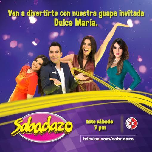A @SabadazoOficial llegará la hermosa @DulceMaria, ¡tienes que verla! https://t.co/L2iGT8oJv3 https://t.co/rjwRvjrJUE