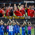 #WAL and #ISL are the only teams at #EURO2016 to score in 100% of their games so far. 2016: Year of the Underdog. https://t.co/TMJmnV42po