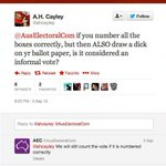 #onlyinaustralia would the @AusElectoralCom reply to a tweet like this, making sure we all vote! #Election2016 https://t.co/KHx9ZK1Xzr