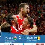 Wales beat Belgium to make into Euro 2016 semi-finals. Wales 3 - 1 Belgium Read More: https://t.co/tCKmx5IDa2 https://t.co/Dyp1OLZAfL