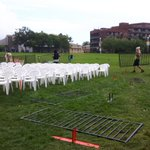 A little rain wont stop us! Were setting up for tonights #CanadaDay2016 concert at Del Crary Park! #musicfest30 https://t.co/2EVZBdEUeD
