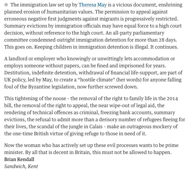 Strong Theresa May letter in The Guardian https://t.co/VwgrHkJctn