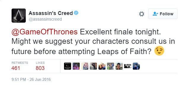 .@assassinscreed with the tweet of the week