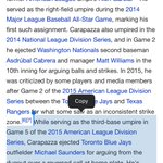 Look what Wikipedia has to say about Vic carapazza @BlueJays #OurMoment https://t.co/MXjWjalhkK