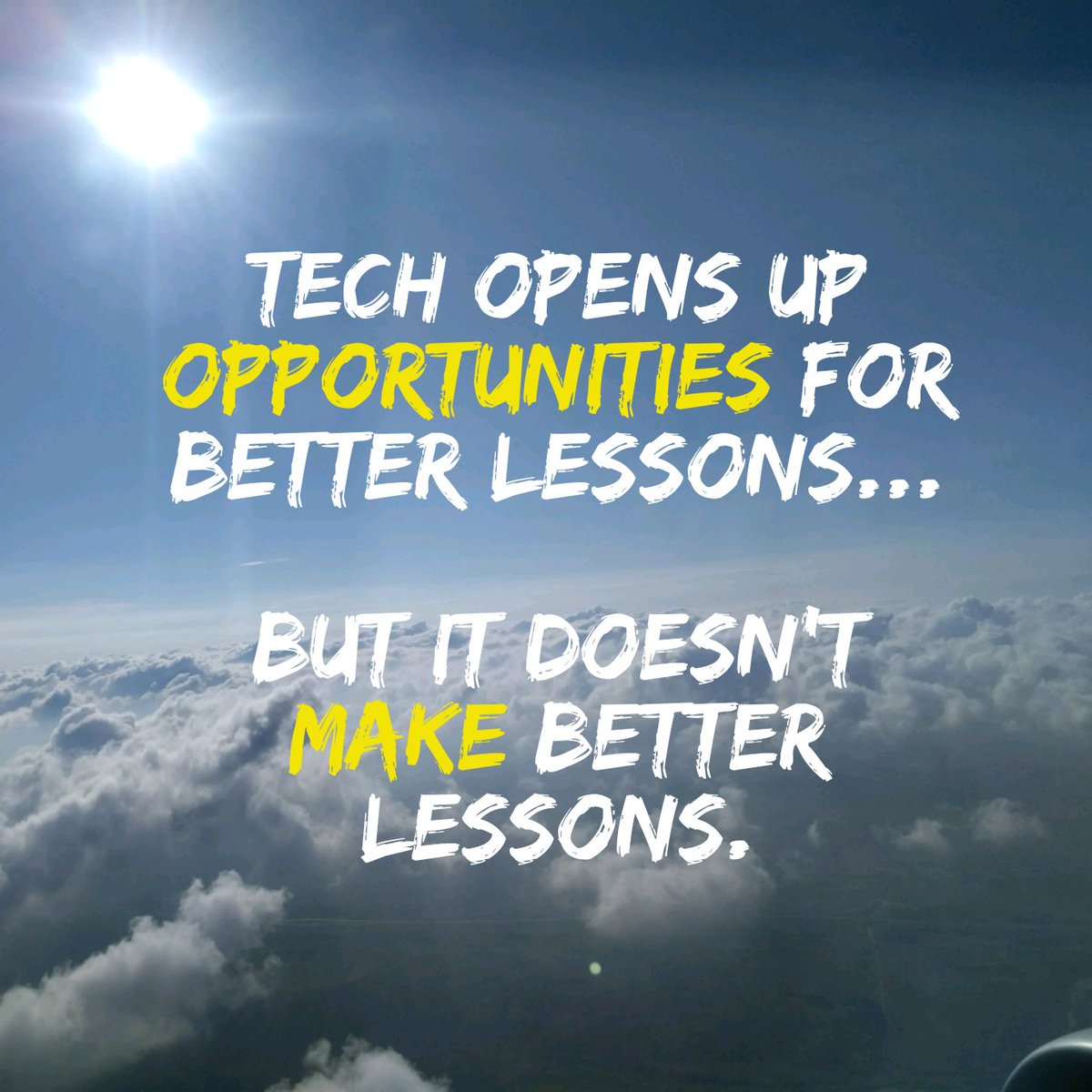 Not hard for an #edtech guy to say this. It's the lesson that matters more than the tool... https://t.co/WemIlmlzdv