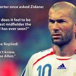 Joe Allen with an important part to play for #WAL tonight. Lets remember what a certain Zinedine Zidane once said: https://t.co/Al5uweWCeC
