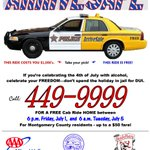 Have fun this holiday weekend & be smart DONT DRINK & DRIVE.  Arrive Safe with free cab ride 6pm Fri.-6am Tues.! https://t.co/usNBDD8S71