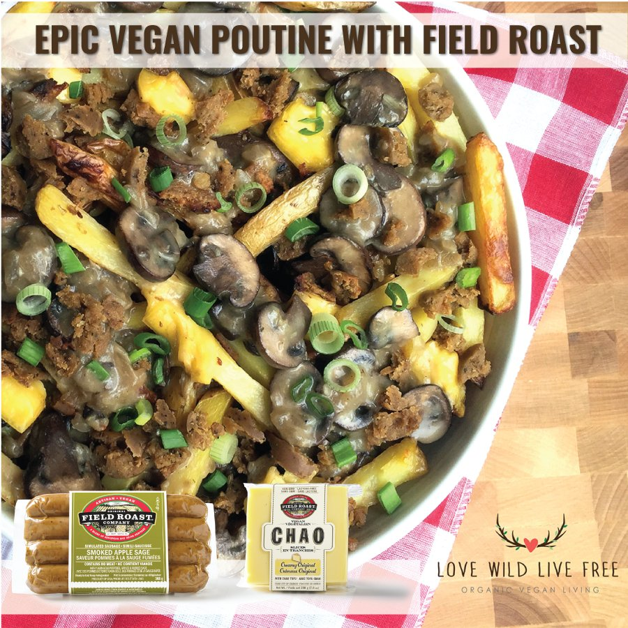 Happy #CanadaDay! @LoveWildLiveFre made this #plantbased poutine using Field Roast! https://t.co/ZgxmowbczL