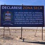 NO OLVIDAR! Decreto Supremo N° 708 desde 01 al 21 julio el Pueblo #LaTirana es Zona Seca #Iquique #PozoAlmonte https://t.co/6NnaGh0kGo