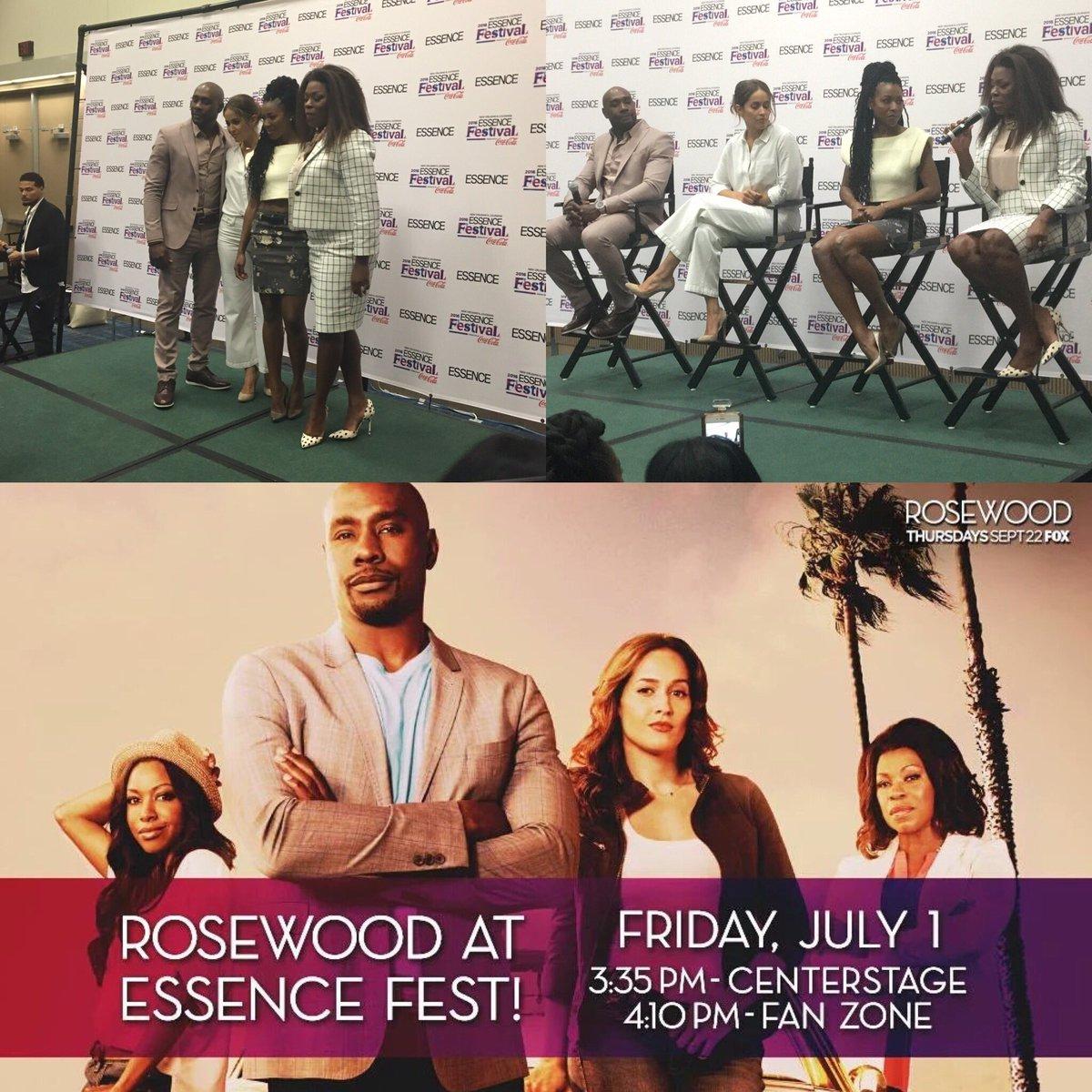 @RosewoodFOX @Morris_Chestnut @GabrielleDennis @JainaLeeOrtiz @LPToussaint @essencefest today #Rosewood #EssenceFest https://t.co/1623NqARfP