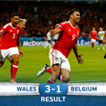 #WAL pull off a huge shock to beat #BEL and reach the semi-finals! #WALBEL #EURO2016 https://t.co/DNGz2i6M9e