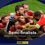 FT: Its history for #WAL. Wales are in their first major tournament semi. #WAL 3-1 #BEL https://t.co/eZItEeScOL https://t.co/XroANzG20v
