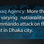 #BANGLADESH #IS #AmaqAgency Claims 24 Killed & 40 Wounded In #DhakaAttack. #TerrorMonitor https://t.co/hN4LPxEv5D