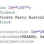 FYI, the @piratepartyau has been given the #1337 identifier by the AEC. #ausvotes #auspol @benraue @oz_f https://t.co/bNXY0x29Tp
