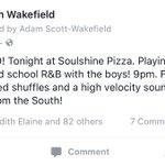 "In the words of our buddy @adamwakefield... theres a ""BLUESNADO"" hitting Soulshine tonight! Ya ready, #Nashville? ???? https://t.co/0az0yLxYWa"
