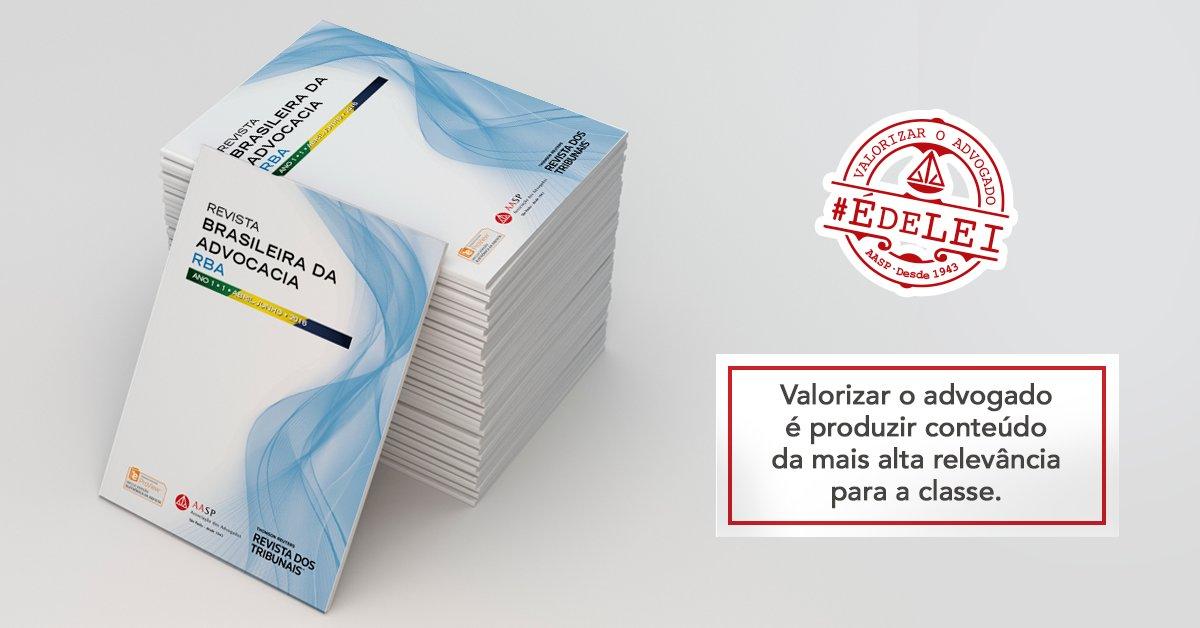 Hoje aconteceu o lançamento da Revista Brasileira da Advocacia, em prol da valorização da classe. #ÉdeLei. https://t.co/HvB9tT2Ivl