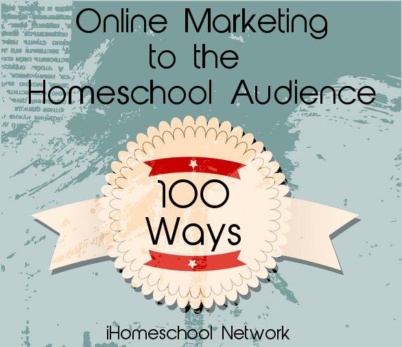 100 Ways to Reach the #Homeschool Market Online https://t.co/wwJsSwmQhO #ihsnet https://t.co/LOTCXXRYb7